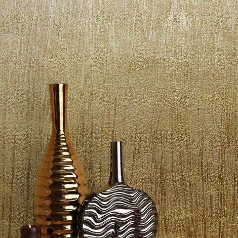 Crown Wallpaper Lustre Foil Texture Brass M1396