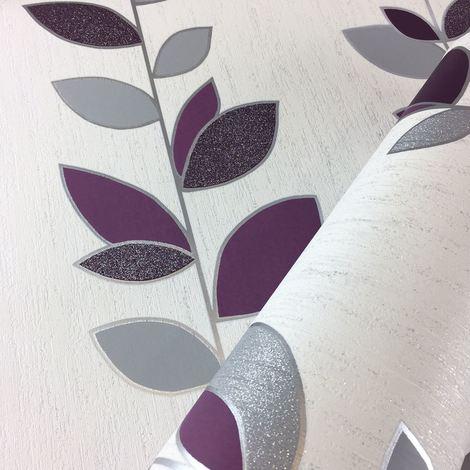 Crown Wallpaper Synergy Leaf Ebony M1373