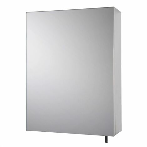 Croydex Avon Bathroom Mirror Cabinet 1 Door Small Stainless Steel