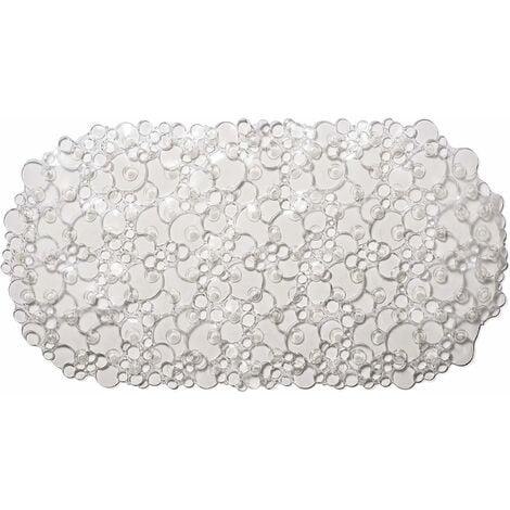 Croydex Bubbles Bath Mat, Clear