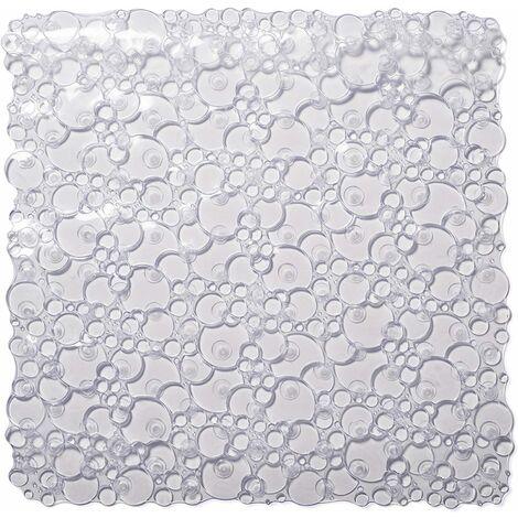 Croydex Bubbles Shower Mat, Clear