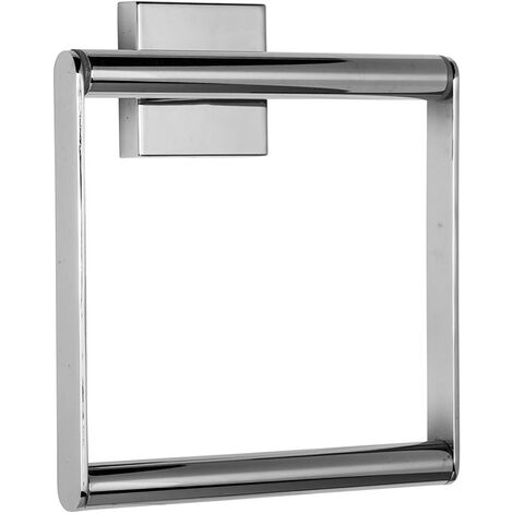 Croydex Chester Flexi-Fix Towel Ring, Chrome