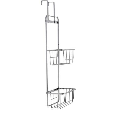 Croydex Chrome Bathroom Door Hook On Storage Basket Cloakroom En suite QM261241