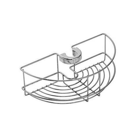 Croydex Chrome Shower Basket Fits any Round Riser Rail 19mm to 25mm QM261041