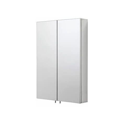 Croydex Colorado Bathroom Mirror Cabinet Double Door Stainless