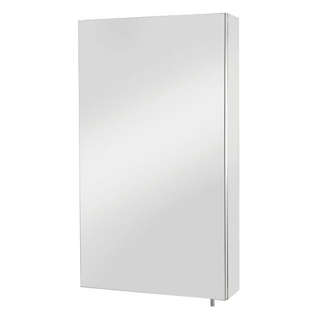 Croydex Colorado Bathroom Mirror Cabinet Single Door Stainless