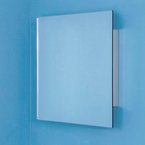 Croydex Dart Bathroom Mirror Cabinet Square Door Stainless Steel