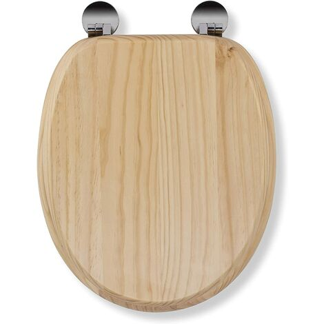 Croydex Flexi-Fix Davos Top & Bottom Fix Toilet Seat, Blonded Pine