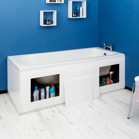 Croydex Gloss White Storage Side Bath Panel