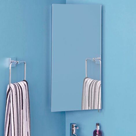 Croydex Houston Illuminated Bathroom Mirror Corner Cabinet