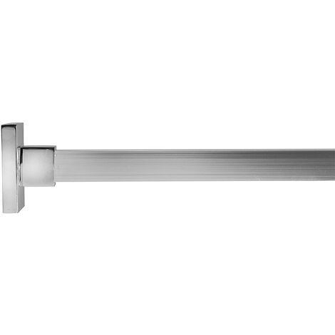 Croydex Luxury Square Shower Curtain Rod, Chrome