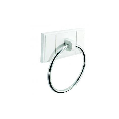 Croydex Maine Towel Ring, White