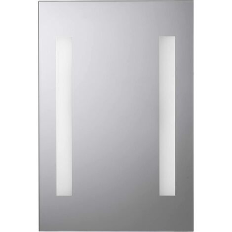 Croydex Malham 45 x 30cm Battery Powered Illuminated Bathroom Mirror