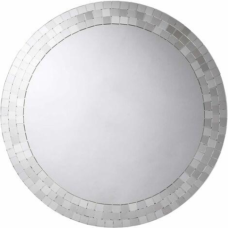 "main image of ""Croydex Meadley Circular Bathroom Mirror with Mosaic Surround"""