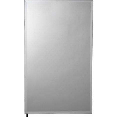 Croydex Medina Single Door Bathroom Cabinet, Aluminium