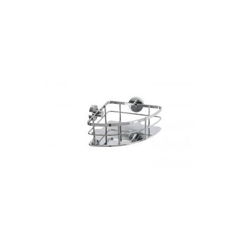 Croydex Rust Free Charlwood Flexi-Fix Bathroom Storage Corner Shower Basket Caddy, Chrome