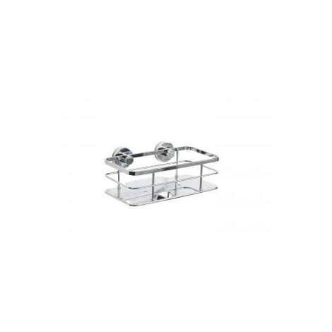 Croydex Rust Free Charlwood Flexi-Fix Bathroom Storage Cosmetic Shower Basket Caddy, Chrome