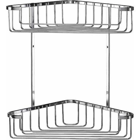 Croydex Rust Free Large Two Tier Corner Storage Basket Caddy