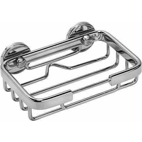 Croydex Rust Free Slimline Aluminium Bathroom Storage Soap Shower Basket Caddy, Chrome