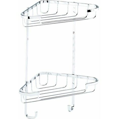 Croydex Rust Free Small Two Tier Corner Basket