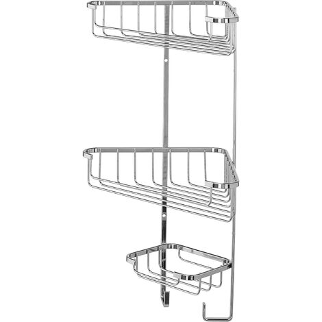 Croydex Rust Free Three Tier Corner Storage Basket Caddy