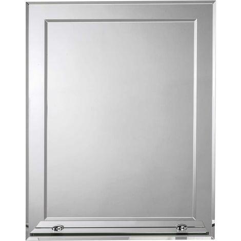 Croydex Rydal Rectangular Double Layer Bathroom Mirror with Shelf
