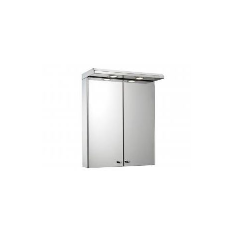Croydex Shire Double Door Illuminated Bathroom Cabinet, Stainless Steel