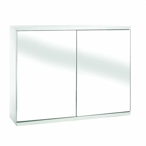 Croydex Simplicity Double Door Mirror Cabinet White - WC257022