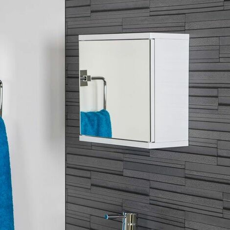 Croydex Simplicity Single Door Mirror Cabinet White - WC257122