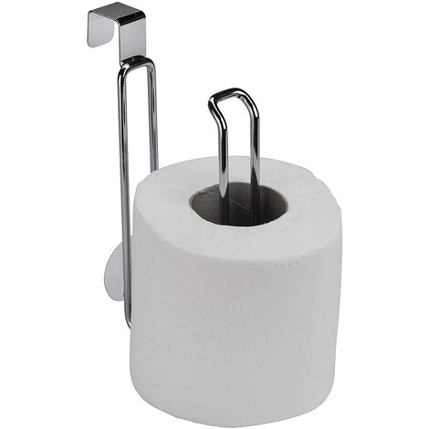 Croydex Space Saving Cistern Toilet Roll Holder Storage Chrome 1 Roll QM265341