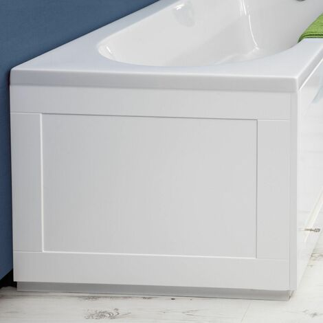 Croydex Unfold N Fit White Bath End Panel 660mm