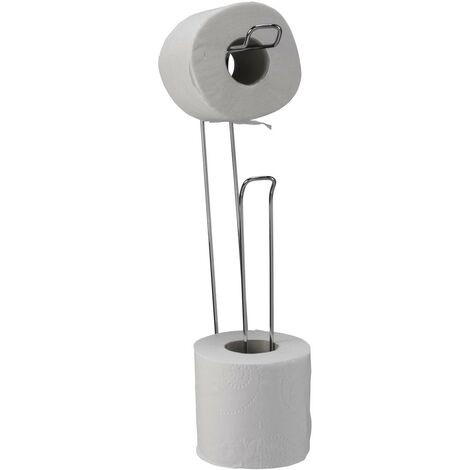 Croydex Wall Mounted Toilet Roll Holder Loo Roll Storage Chrome 4 Roll QM265241