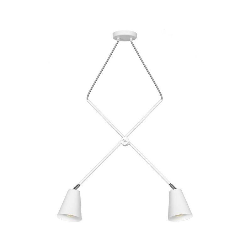 Homemania - Crush Haengelampe - Kronleuchter - Deckenkronleuchter - Weiss, Grau aus Metall, 90 x 12 x 90 cm, 2 x E27, 60W