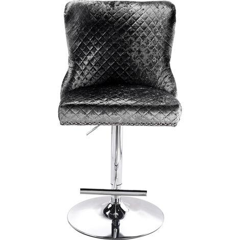 "main image of ""Crushed Velvet Barstool Studded Button Lion Knocker Back Kitchen Bar Stool Seat"""