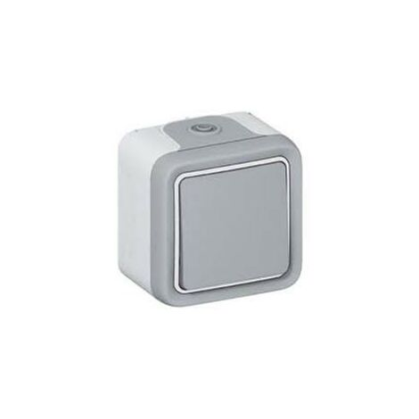 Cruzamiento monobloc gris Legrand Plexo 069716