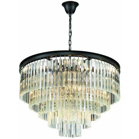 Crystal ceiling lamp MATLOCK L80 10 Lights