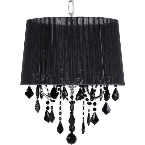 Crystal Chandelier Black EVANS