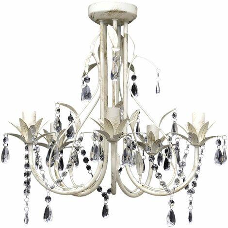 Crystal Pendant Ceiling Lamp Chandelier Elegant 5 Bulb Sockets QAH08348