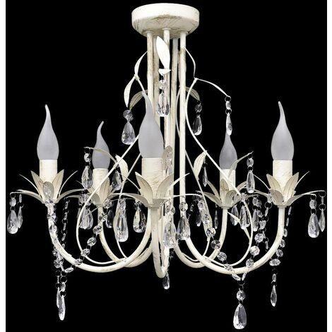 Crystal Pendant Ceiling Lamp Chandelier Elegant 5 Bulb Sockets VD08348