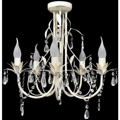 Crystal Pendant Ceiling Lamp Chandelier Elegant 5 Bulb Sockets VDTD08348