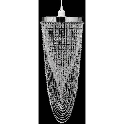 Crystal Pendant Chandelier 22 x 58 cm - Transparent