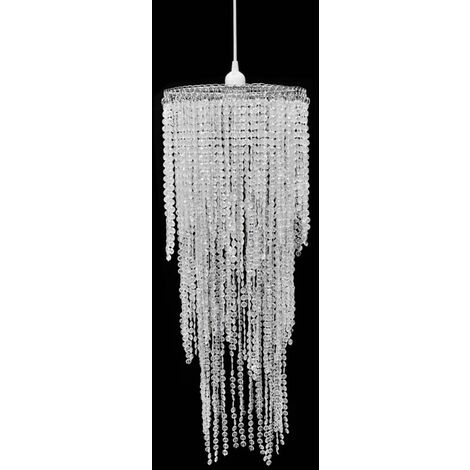 Crystal Pendant Chandelier 26 x 70 cm - Transparent