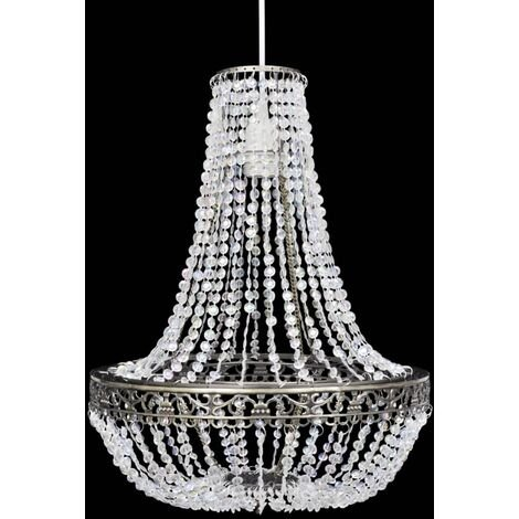 Crystal Pendant Chandelier 36,5 x 46 cm - Transparent