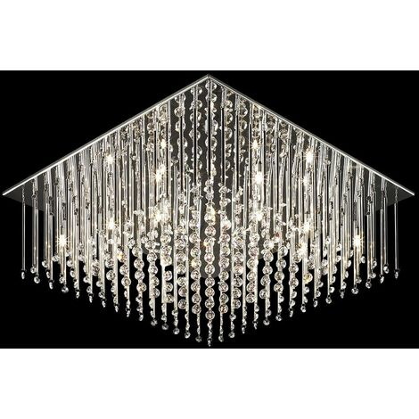Crystal pendant light Angel Chrome in metal