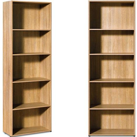 CS Nolte Estantería de madera de roble librería biblioteca mueble de almacenaje de archivo Oficina Estudio Salón