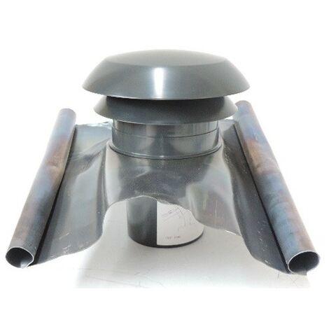 Ct 200 ardoise chapeau de toiture gris pour sorties conduits diametre 125 ATLANTIC CLIMATISATION 533801