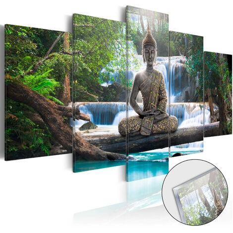 Cuadro acrílico - Buda y cascada [Glass]