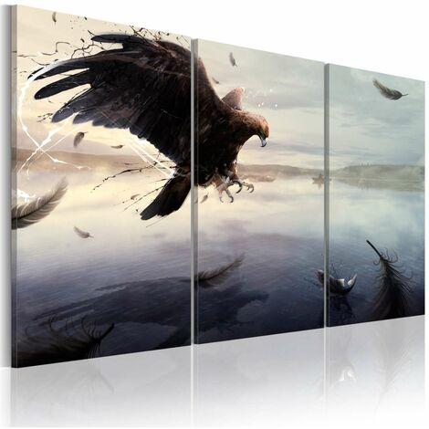 Cuadro - Águila sobre la superficie del lago