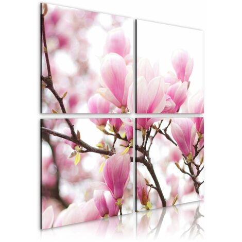Cuadro - Árbol de magnolia floreciente