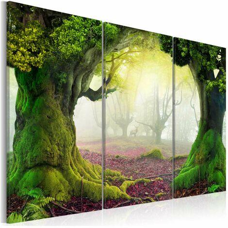 Cuadro - Bosque misterioso - tríptico